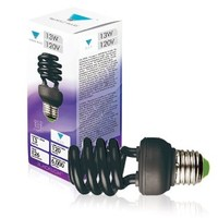 Triangle Bulbs 13 Watt Spiral Energy Saving CFL Light Bulb Medium Base Ultra Violet UV Blacklight Blue,