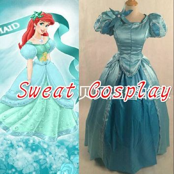 DCCKHY9 2016 halloween costumes for women adult princess dress the little mermaid princess Ariel Cosplay Costume