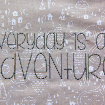 Everyday is an Adventure Blanket, Greatest Adventure Blanket, Minky Baby Blanket, Everyday is an Adventure