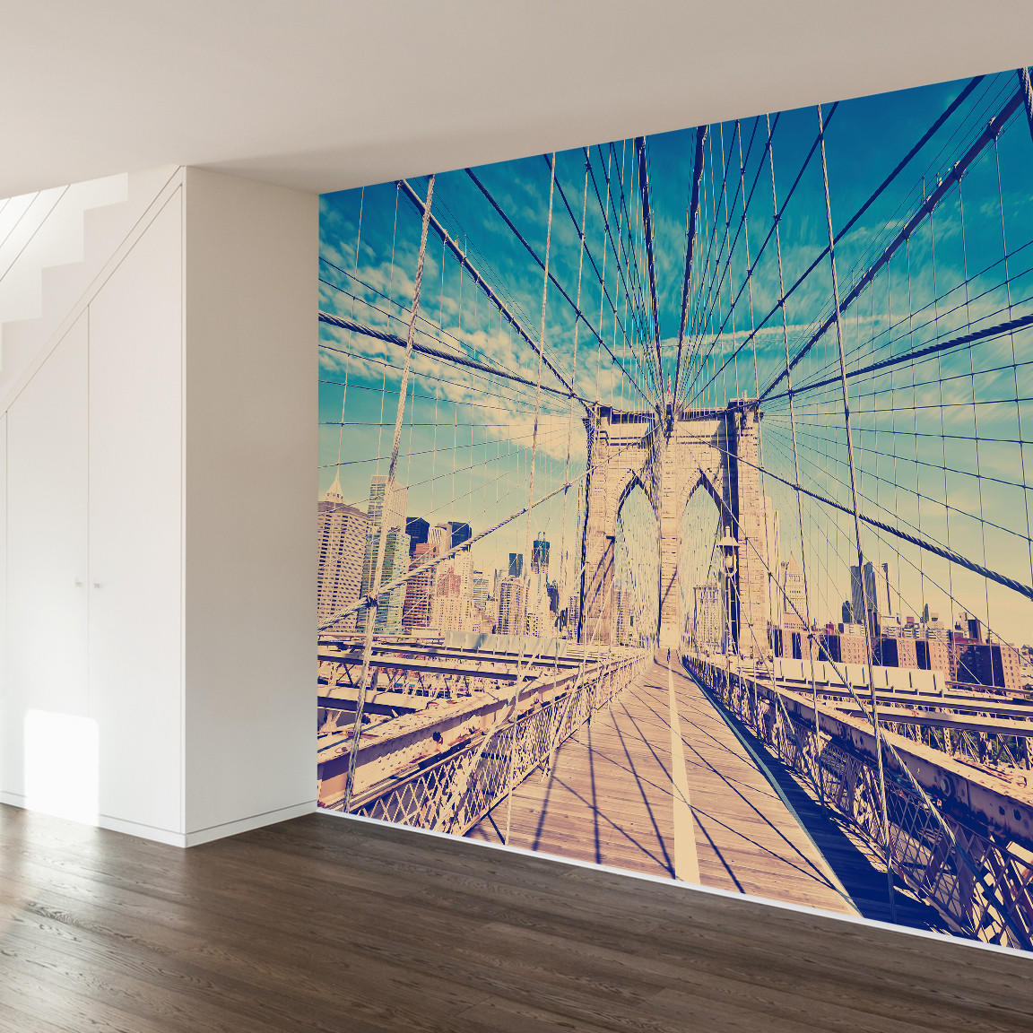 Brooklyn bridge wall mural decal from walls need love for Brooklyn bridge wallpaper mural
