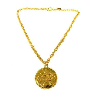 ONETOW Chanel Gold Coin Pendant Necklace