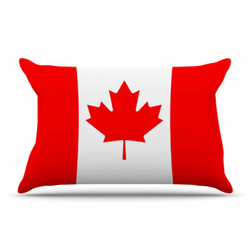 "Bruce Stanfield ""Flag of Canada"" Red White Pillow Sham"
