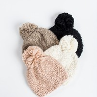 Christy Pom Pom Knit Beanie
