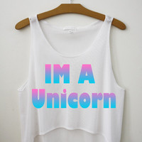 Im A Unicorn by Hipster Tops
