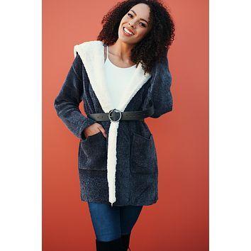 Best You've Had Chenille Cardigan (Charcoal Grey)