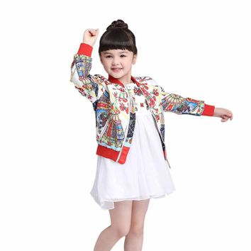 Baby Jacket Coat for Girls Casual Outerwear Winter Kids Clothing Children Jackets for Girls Fashion Ethnic Cardigan