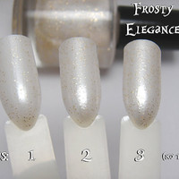 Frosty Elegance - Sheer White Frost Custom Glitter Polish Alice in Wonderland White Queen