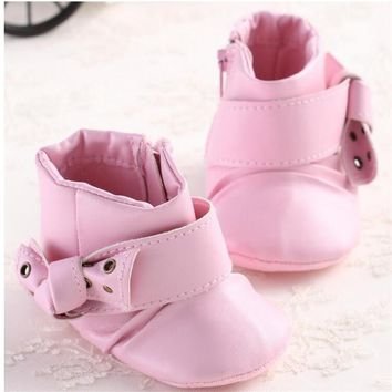 2016 Fashion style cute baby girl PU Leather cartoon small rabbit pattern baby favourite princess shoes