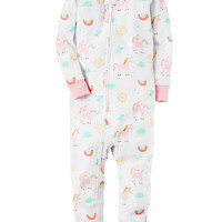 1-Piece Snug Fit Cotton Footless PJs