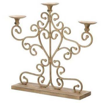 Wrought Iron Small Antique Candelabra