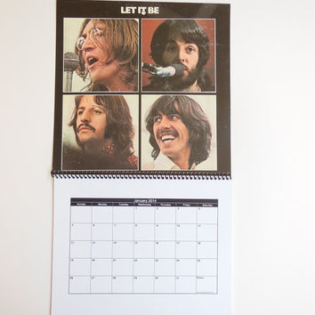 THE BEATLES Wall Calendar 2014 - Record Album Cover (Let It Be)