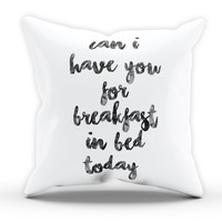 Breakfast in Bed Cushion Novelty Cushion Bedroom Cushion Pillow Bed Throw Gift Cushion Funny Cushion 220