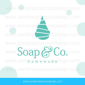 OOAK Premade Logo Design - Sliced Droplet - Perfect for a handmade soap brand or a bath and body products shop