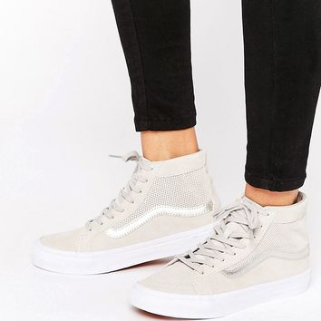 Vans Sk8-Hi Slim Nude Perforated Suede Trainers