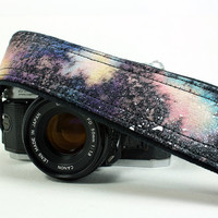 Galaxy Camera Strap, No. 30, Hand painted, dSLR or SLR, Cosmos, Nebula, OOAK