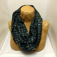 Colorful Knit Scarf -  The City that Never Sleeps Infinity Scarf - Confetti Scarf, Jersey Circle Scarf - Loop Scarf, Eternity