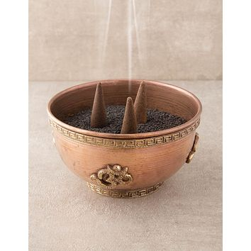 Om Copper Incense Burner