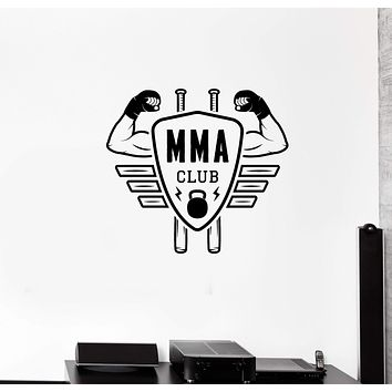 Wall Decal MMA Club Fitness Center Fight Boxing Sports Martial Arts Vinyl Sticker Unique Gift (ed734)