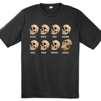 Bad Monkey Designz Skull Classification on a Black Short Sleeve T Shirt