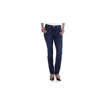 Faded Glory  Women's Straight Leg Jeans, Authentic Blue, 12P