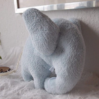 Plush little blue elephant toy - baby shower gift - stuffed animal - handmade toy - home decor - soft toy