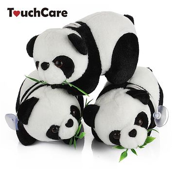 16CM Cute  Panda With Bamboo Stuffed Toy