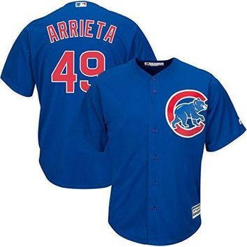 Jake Arrieta Chicago Cubs #49 Mlb Youth Cool Base Jersey Blue