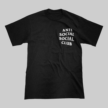 Anti Social Midweight Black Short Sleeve T shirt