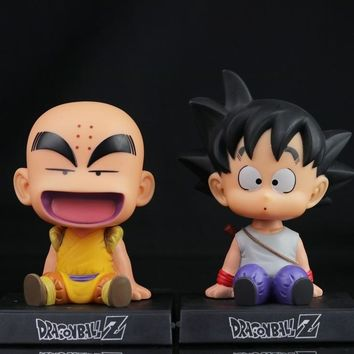 12cm Dragon Ball Z Action Figure Son Goku Krillin Master Roshi Action Figure Toys PVC Model Doll Car Swing Collectible Model Toy