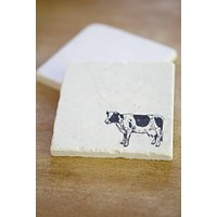 Farm Animal Marble Coasters