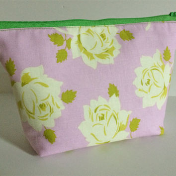 Vintage Rose Cosmetic Bag Makeup Bag Gadget Bag