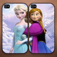 disney frozen anna and elsa Couple iphone 4/4s, 5/5s 5c , samsung s2 i9100,s3,s4