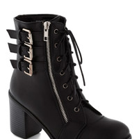 Buckle Downtown Bootie in Black | Mod Retro Vintage Boots | ModCloth.com