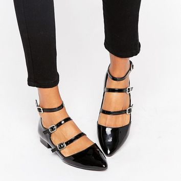 New Look | New Look Multi Strap Patent Shoe at ASOS