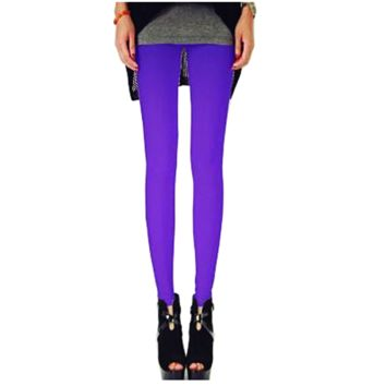 Solid Color Leggings - Purple