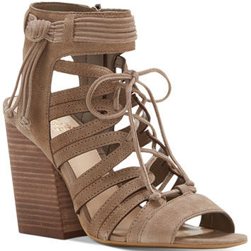 Vince Camuto Ranata Lace-Up Block-Heel Sandals | macys.com