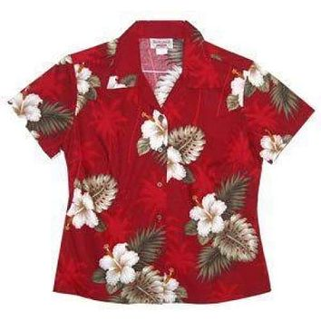 lava hawaiian lady blouse