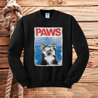 paws jaws parody sweater unisex adults