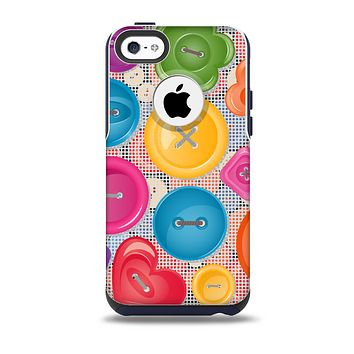 Icon Shaped Color Buttons Skin for the iPhone 5c OtterBox Commuter Case