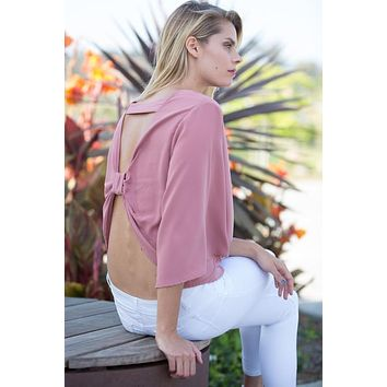 Crepe Bow Back Top