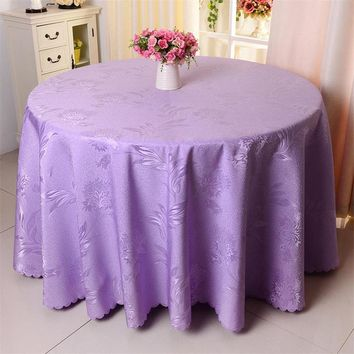 1PC Phoenix Flower Crocheted Multi Color Round Table Cloth For Hotel Wedding Party Decor Rectangle Durable Polyester Tablecloth