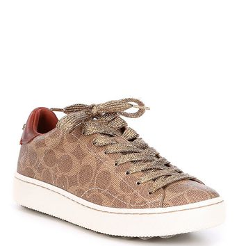 COACH C101 SIGNATURE LOW TOP SNEAKER | Dillards