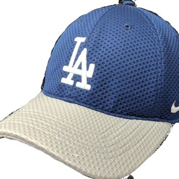 Men's Los Angeles Dodgers Nike Blue/Gray Mesh Logo Performance Adjustable Hat