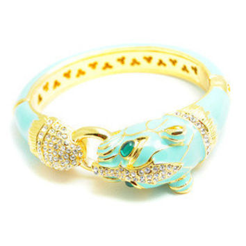 Pree Brulee - Turquoise Cheetah Bangle