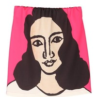 Abstract Portrait Skirt In Pink | Choies