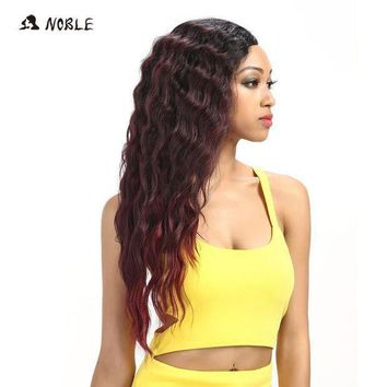 ESBG8W Noble Hair Products U Part Lace Front Wig 28 Inch Long Deep Wave Dark Root Synthetic Wigs For Black Women Free Shipping