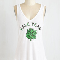 Food Mid-length Sleeveless Power Salad Top