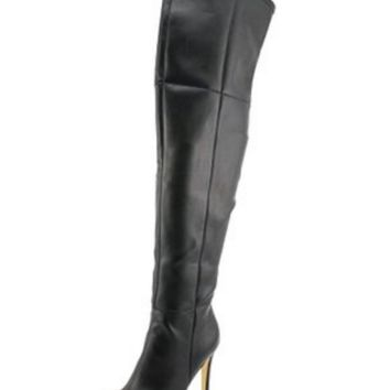 GUESS Women's Zonian Faux-Suede Over-the-Knee Boots - 7M