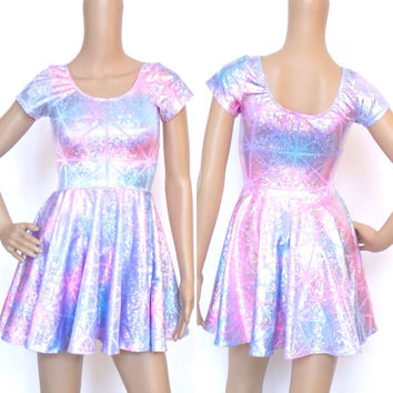 Hologram Skater Dress