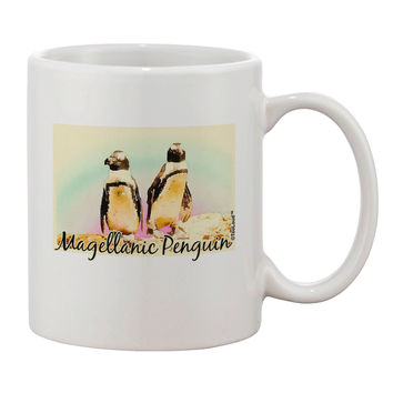 Magellanic Penguin Text Printed 11oz Coffee Mug